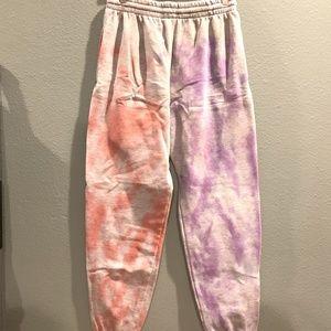 Half and Half Tie Dye Sweatpants